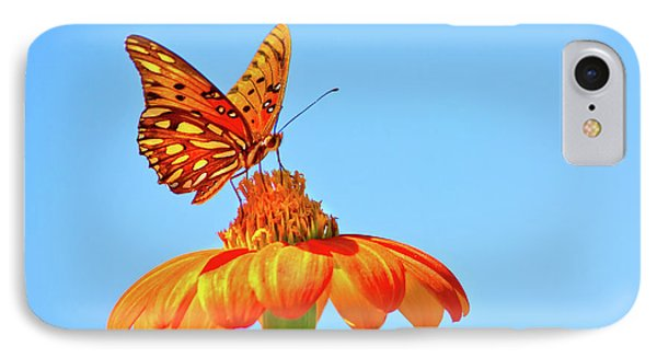 Gulf Fritillary Landing IPhone Case by Mark Andrew Thomas