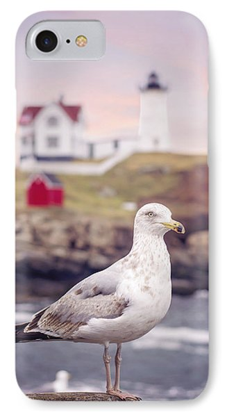 Gull At Nubble IPhone Case by Heather Applegate
