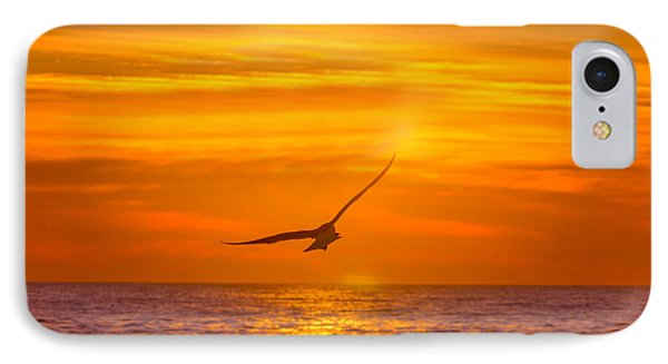 Gull At Sunrise IPhone Case by Allan Levin