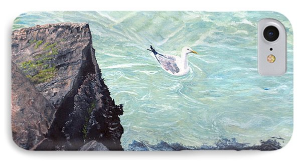 Gull In Shallows Of Barnegat Inlet IPhone Case