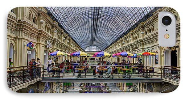Gum Department Store Interior - Red Square - Moscow IPhone Case by Jon Berghoff