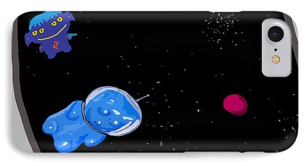 Gummy Bear In Space With Alien IPhone Case
