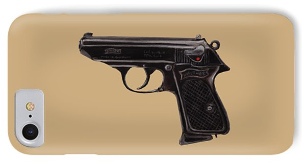 Gun - Pistol - Walther Ppk IPhone Case by Anastasiya Malakhova