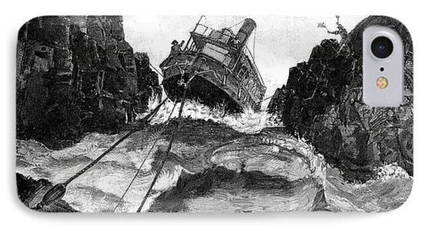 Gunboat On Nile Rapids, 19th Century IPhone Case