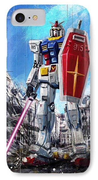 Gundam Lingotto Saber IPhone Case by Andrea Gatti
