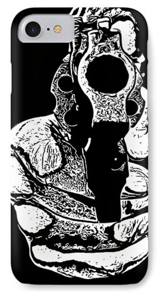 T Shirts iPhone 7 Case - Gunman T-shirt by Edward Fielding