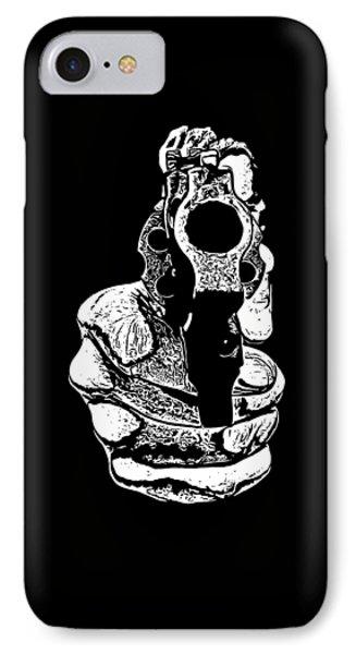 Gunman T-shirt IPhone Case by Edward Fielding
