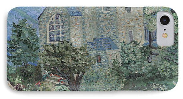 IPhone Case featuring the painting Gunnison Chapel In The Last Days Of Summer by Denny Morreale