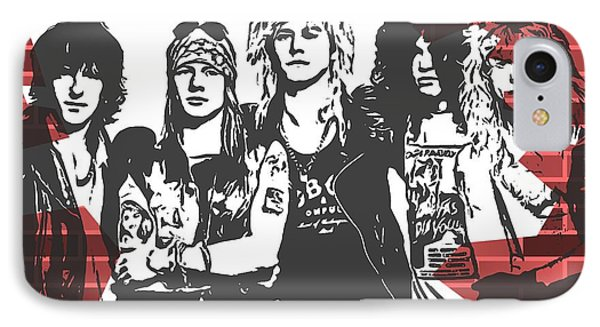Guns N Roses Graffiti Tribute IPhone Case