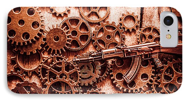 Guns Of Machine Mechanics IPhone Case