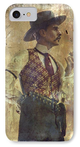 Gunslinger IIi Doc Holliday In Fine Attire IPhone Case by Toni Hopper