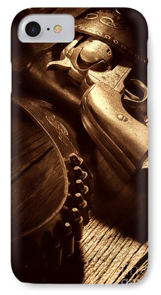 Gunslinger Tool IPhone Case by American West Legend By Olivier Le Queinec