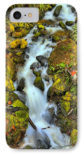 Gushing Through The Rocks IPhone Case by Adam Jewell