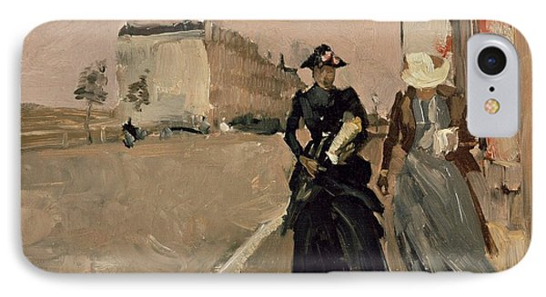 Gust Of Wind IPhone Case by George Breitner