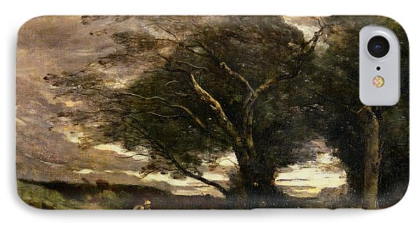 Gust Of Wind IPhone Case by Jean Baptiste Camille Corot
