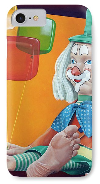 Gustav With Balloons IPhone Case by Kelly Jade King