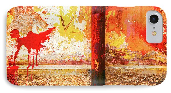 IPhone Case featuring the photograph Gutter And Decayed Wall by Silvia Ganora