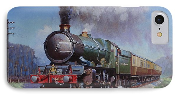 IPhone Case featuring the painting Gwr King On Dainton Bank. by Mike  Jeffries