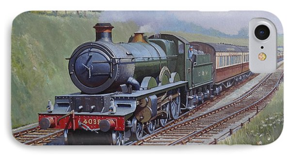 IPhone Case featuring the painting Gwr Saint Class by Mike  Jeffries