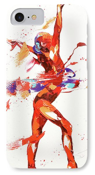Gymnast Four IPhone Case by Penny Warden