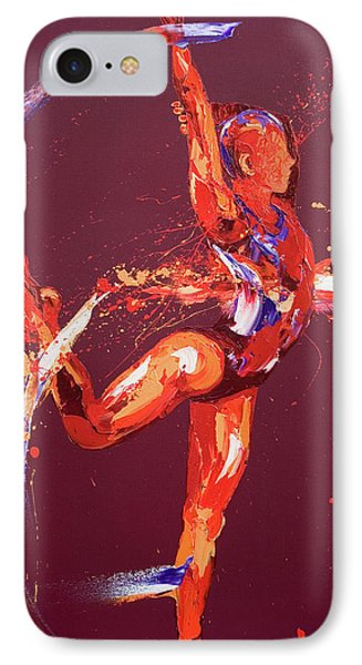 Gymnast Nine IPhone Case by Penny Warden