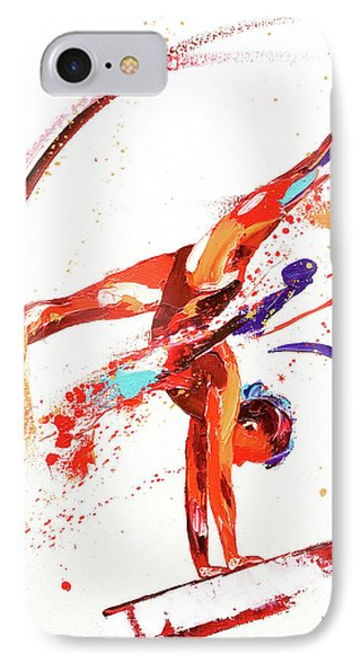 Gymnast One IPhone Case by Penny Warden