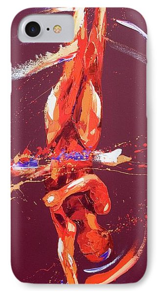 Gymnast Six IPhone Case by Penny Warden