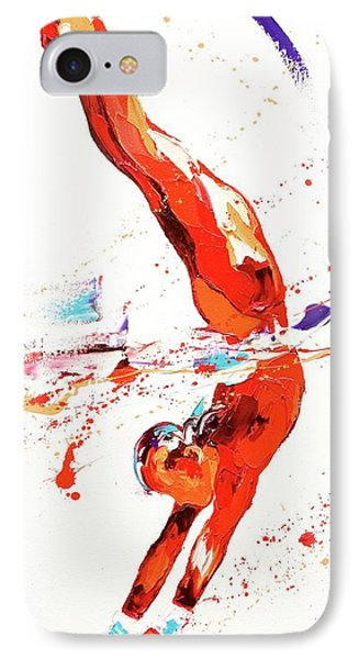 Gymnast Three IPhone Case by Penny Warden