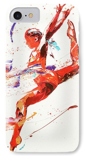 Gymnast Two IPhone Case by Penny Warden