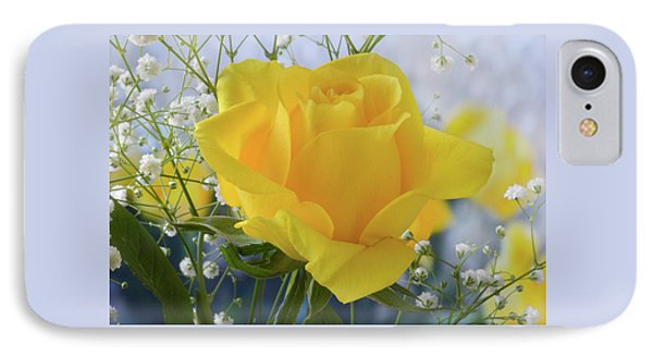 IPhone Case featuring the photograph Gypsophila And The Rose. by Terence Davis