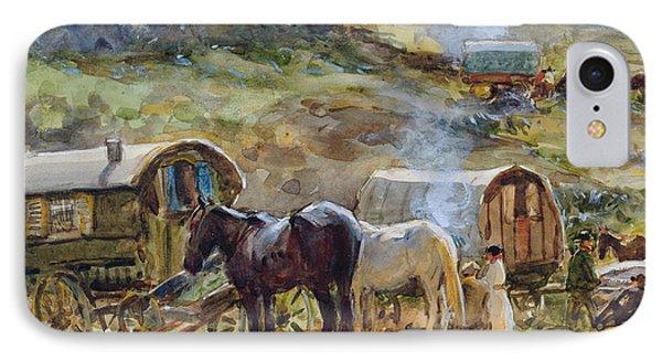 Gypsy Encampment IPhone Case by John Atkinson