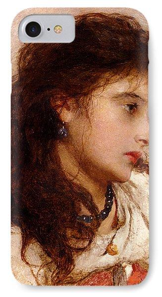 Gypsy Girl Phone Case by George Elgar Hicks