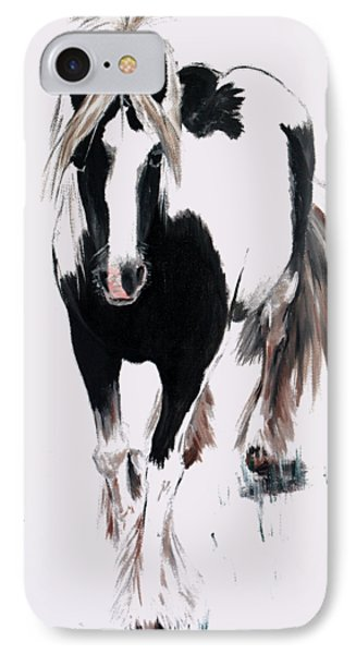 IPhone Case featuring the painting Gypsy Vanner by Isabella F Abbie Shores FRSA