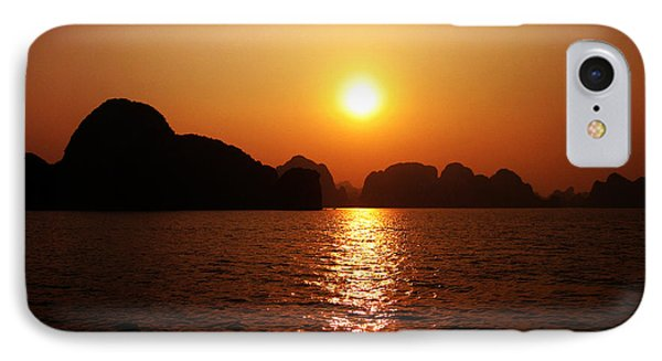 Ha Long Bay Sunset Phone Case by Oliver Johnston