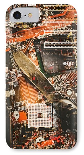Hacking The System IPhone Case by Jorgo Photography - Wall Art Gallery