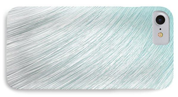 Hair Blowing Closeup IPhone Case by Allan Swart