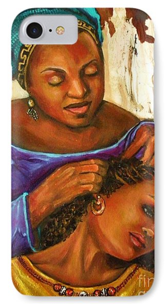Hair Braiding IPhone Case by Alga Washington