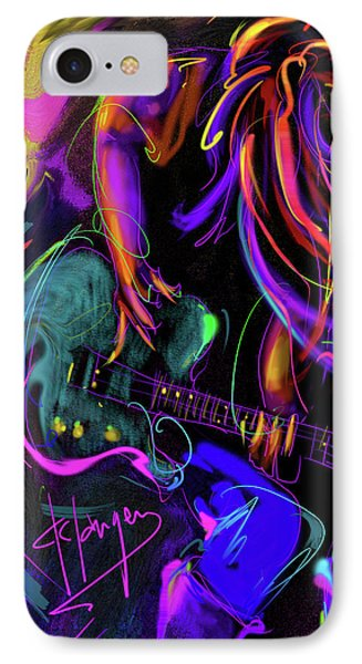 Hair Guitar 2 IPhone Case by DC Langer