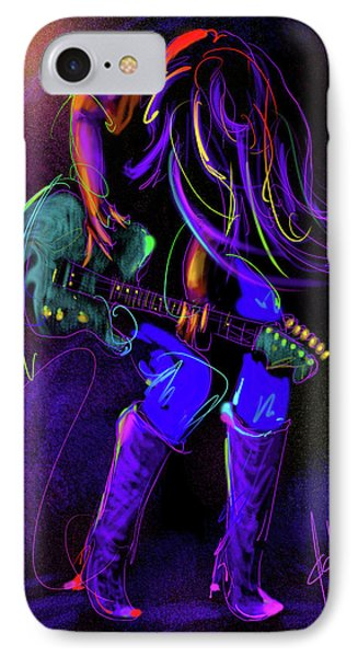 Hair Guitar IPhone Case by DC Langer