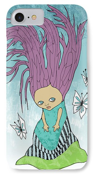 Hair Is A Tree Phone Case by Lindsey Cormier