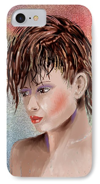 Hairstyle Of Colors Phone Case by Arline Wagner