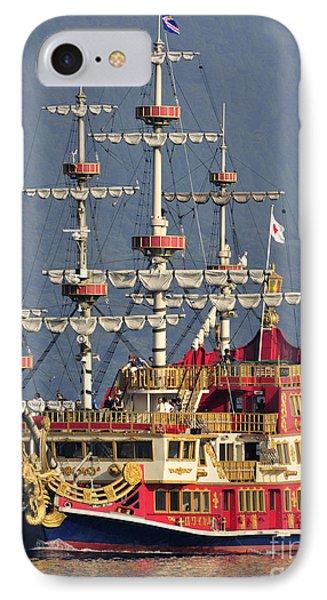 Hakone Sightseeing Cruise Ship Sailing On Lake Ashi Hakone Japan IPhone Case