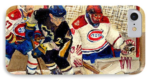 Halak Catches The Puck Stanley Cup Playoffs 2010 Phone Case by Carole Spandau
