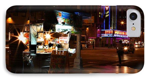 Halal Vendor At Radio City Music Hall IPhone Case by Lee Dos Santos