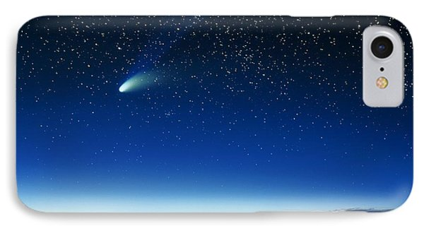 Hale-bopp Comet And Telescope Domes IPhone Case