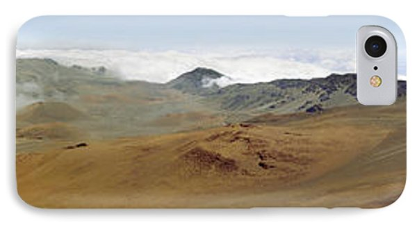 IPhone Case featuring the photograph Haleakala Crater Panorama by Peter J Sucy