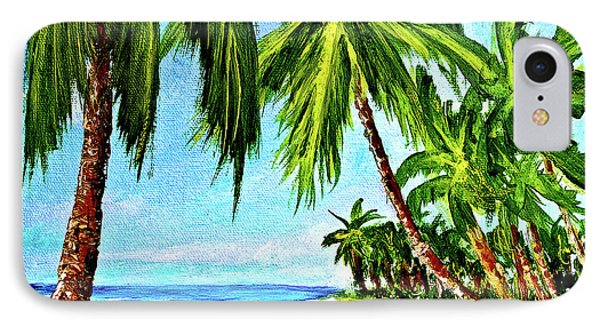 Haleiwa Beach #369 Phone Case by Donald k Hall