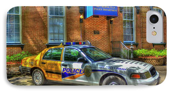 IPhone Case featuring the photograph Half And Half What Is It Manna Savannah Georgia Police Art by Reid Callaway