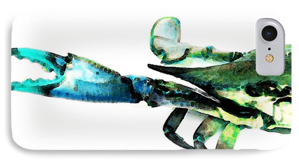 Half Crab - The Left Side IPhone Case by Sharon Cummings