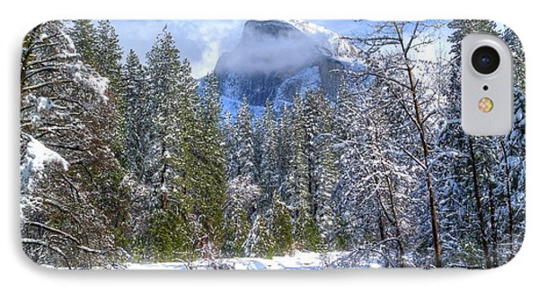 Half Dome And The Merced River Phone Case by Bill Gallagher